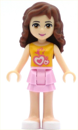 LEGO Friends Minifigure Olivia Bright Pink Layered Skirt