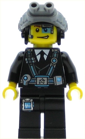 LEGO Ultra Agents Minifigure Agent Curtis Bolt with Goggles (70165)