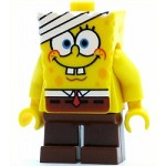 LEGO Minifigure SpongeBob bandage on head (Set 3832)