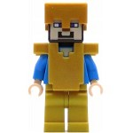 LEGO Minecraft Minifigure Steve with Pearl Gold Helmet, Armor and Legs (21127)