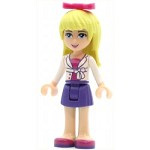 LEGO Friends Minifigure Friends Stephanie Dark Purple Skirt Magenta Top