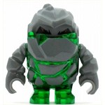 LEGO Power Miner Minifigure Rock Monsster Boulderax Trans-Green