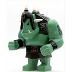 LEGO Castle Minifigure Fantasy Era Troll Sand Green with Black Armor