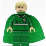 LEGO Harry Potter Minifigure Draco Malfoy Green Quidditch Uniform