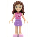 LEGO Friends Minifigure Olivia Medium Lavender Skirt Dark Pink Top