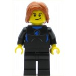 LEGO Town Minifigure Coast Guard City - Surfer in Wetsuit, Dark Orange Tousled Hair (60011)