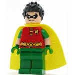 LEGO Super Heroes Minifigure Robin - Short Sleeves, Spiky Hair (76035)