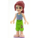 LEGO Friends Minfigure Friends Mia, Lime Cropped Trousers, Medium Blue Top with 3 Butterflies