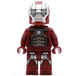 LEGO Super Heroes Minifigure Iron Man Mark 5 Armor Trans-Clear Head