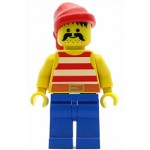 LEGO Pirates Minifigure Red White Stripes Shirt Red Bandana