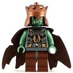 LEGO Castle Minifigure Fantasy Era Troll King with Copper Crown
