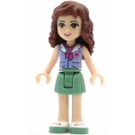 LEGO Friends Minifigure Friends Olivia, Sand Green Skirt, Lavender Top with Red Cross Logo and Scarf