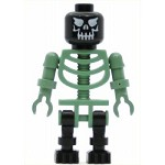 LEGO Other Minifigure Skeleton Sand Green with Black Legs and Black Head