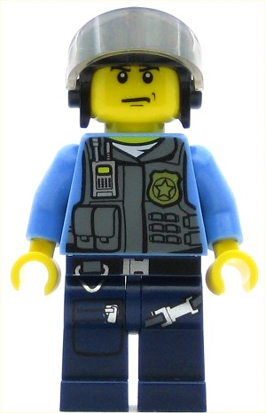 LEGO Town Minifigure Police Undercover Elite Police Officer