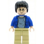 LEGO Minifigure Harry Potter Blue Open Shirt Torso Tan Legs Light Flesh Hands & Head (set 4755)