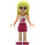 LEGO Friends Minifigure Friends Stephanie, Magenta Layered Skirt, White Top