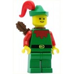LEGO Castle Minifigure Forestman Red Green Hat Red Plume Quiver
