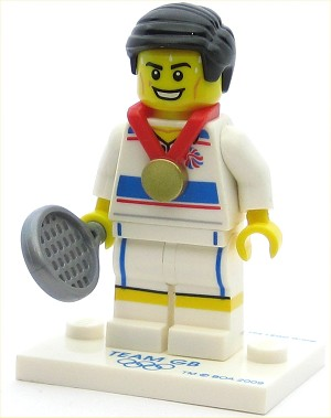 LEGO Collectible Minifigures Team GB Tactical Tennis Player