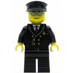 LEGO Town Minifigure Airport Pilot with Red Tie and 6 Buttons