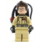 LEGO Ghostbusters Minifigure Dr. Egon Spengler, Printed Arms - with Proton Pack