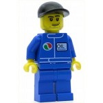LEGO Minifigure Octan Blue Oil Blue Legs Black Cap Stubble (7993)
