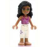 LEGO Friends Minifigure Ella White Cropped Trousers Magenta Top