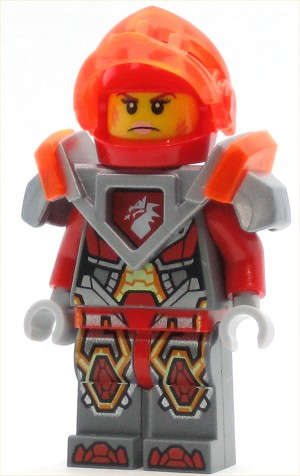 LEGO Nexo Knights Minifigure Macy - Trans-Neon Orange Visor and Dark Red Plume (70352)