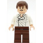 LEGO Star Wars Minifigure Han Solo, Reddish Brown Legs without Holster Pattern (Carbonite, Light Flesh, Dual Sided Head)