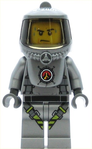 LEGO Town Minifigure Volcano Explorer - Male Scientist with Heatsuit, Sweat Drops