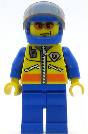LEGO Minifigure Coast Guard City Motorcyclist