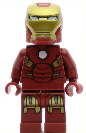 LEGO Juniors Minifigure Iron Man with Circle on Chest (10721)
