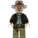 LEGO Indiana Jones Minifigure Indiana Jones Open-Mouth Grin