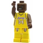 LEGO Minifigure NBA Shaquille O'Neal Los Angeles Lakers #34 (Home Uniform)