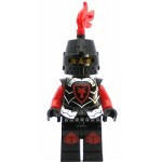 LEGO Castle Minifigure Castle - Dragon Knight Armor with Dragon Head, Helmet Closed, Red Plume, Black Bushy Eyebrows