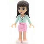 LEGO Friends Minifigure Sophie Bright Pink Layered Skirt Light Aqua Long Sleeve Blouse Top