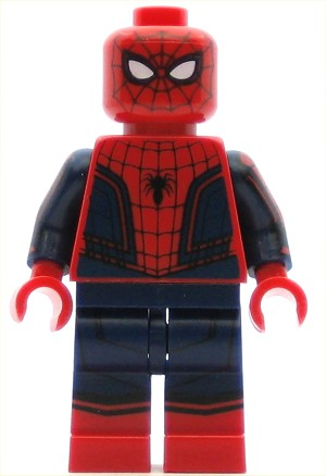 LEGO Super Heroes Minifigure Spider-Man - Black Web Pattern, Red Torso, Red Boots