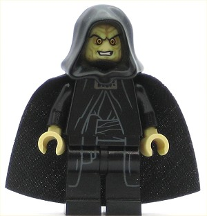 LEGO Star Wars Minifigure Emperor Palpatine - Tan Head, Tan Hands