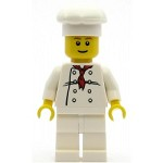 LEGO Minifigure Chef White Torso with 8 Buttons White Legs