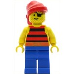 LEGO Pirates Minifigure Red Black Stripes Shirt Red Bandana