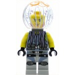 LEGO The LEGO Ninjago Movie Minfigure Jelly - Reddish Brown Beard, Dark Bluish Gray Neck Bracket, Trans-Medium Blue Round Plate