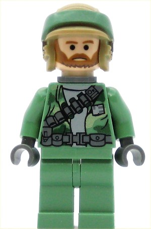 LEGO Star Wars Minifigure Rebel Commando Beard