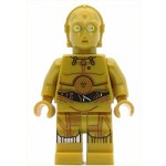 LEGO Star Wars Minifigure C-3PO - Colorful Wires, Decorated Legs (75136)