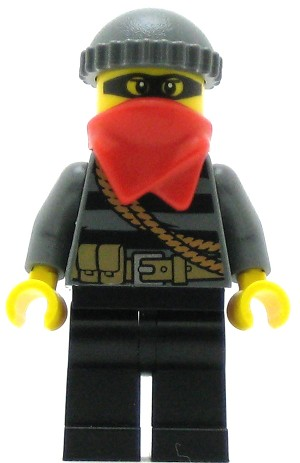 LEGO Town Minifigure Police - LEGO City Burglar, Mask, Bandana and Knit Cap