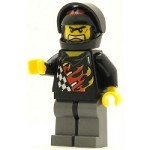 LEGO Racers Minifigure World Racers Backyard Blaster 1 (Bart Blaster) Black Visor