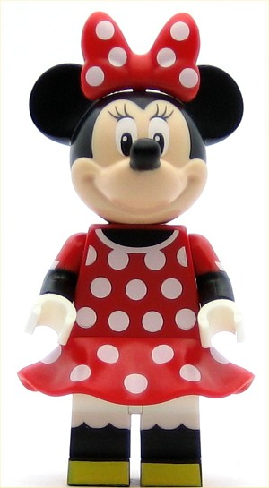 LEGO Disney Minifigure Minnie Mouse - Red Polka Dot Dress (71040)