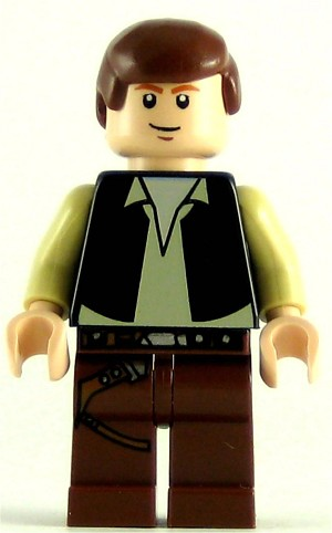 LEGO Star Wars Minifigure Han Solo Black Vest