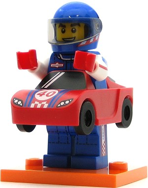 LEGO Collectible Minifigures Series 18 Race Car Guy