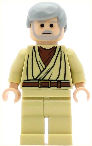 LEGO Star Wars Minifigure ObiWan Kenobi Old