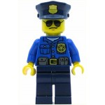 LEGO Town Minifigure Police - City Officer, Gold Badge, Police Hat, Sunglasses