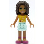 LEGO Friends Minifigure Andrea Light Aqua Layered Skirt Bright Light Orange Top